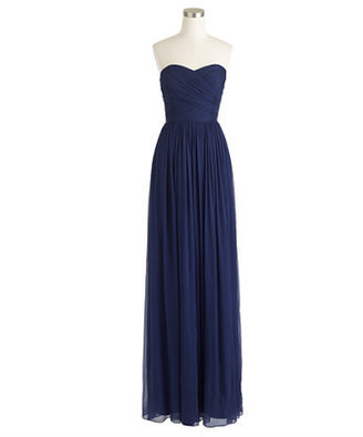 J.Crew Arabelle long dress in silk chiffon