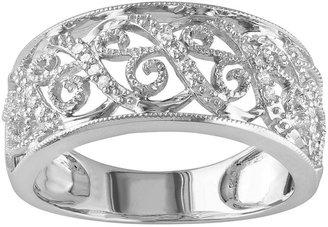 Miadora 14k white gold 1/10-ct. t.w. round-cut diamond filigree ring