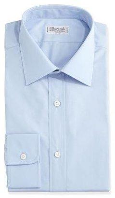 Charvet Solid Poplin Dress Shirt, Light Blue $485 thestylecure.com