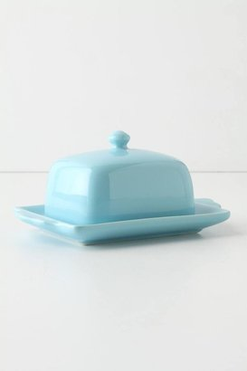 Anthropologie Tea And Toast Butter Dish