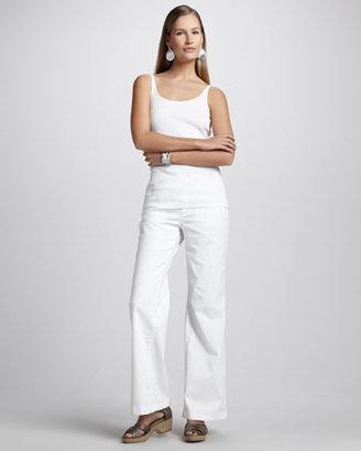 Eileen Fisher Wide-Leg Stretch Jeans