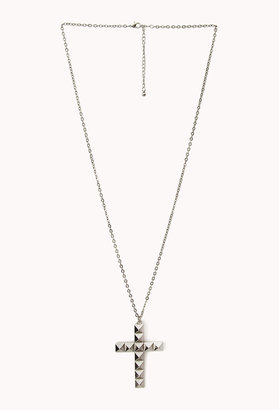 Forever 21 Pyramid Cross Necklace