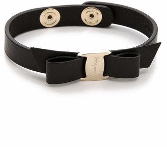 Salvatore Ferragamo Vara Bow Single Wrap Bracelet $160 thestylecure.com