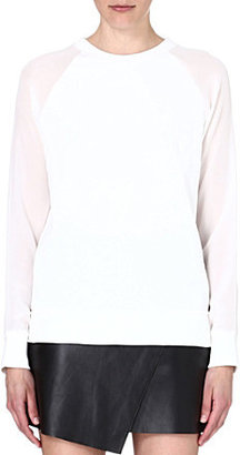 Equipment Gemma contrast sleeve top