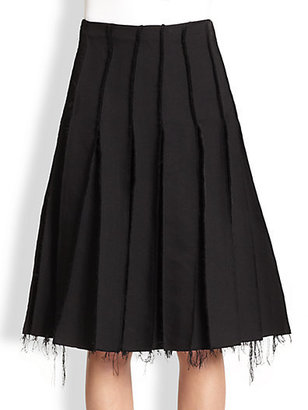J.W.Anderson Pleated Raw-Edged Skirt
