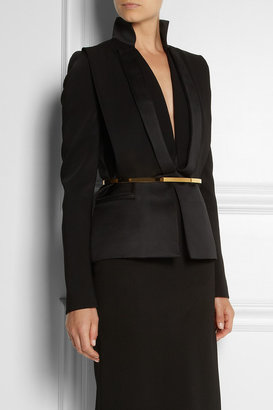 Stella McCartney Skinny metal and faux leather belt