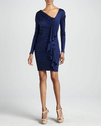 Catherine Malandrino Asymmetric Ruffle-Front Cocktail Dress