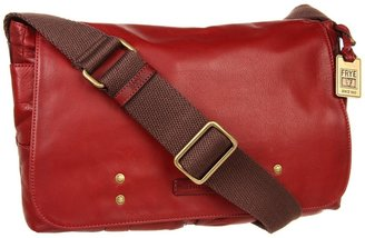 Frye Jenny Messenger (Dark Brown Soft Vintage Leather) - Bags and Luggage