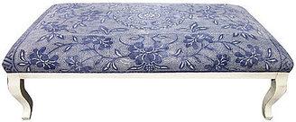 Fragments for Neiman Marcus Identity Custom Batik-Upholstered Ottoman
