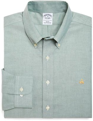 Brooks Brothers Non-Iron Slim Fit Solid Oxford Sport Shirt