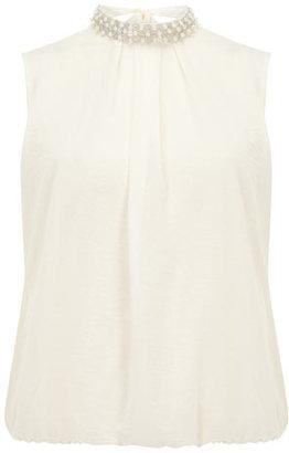 Dorothy Perkins Petite pearl collar blouse