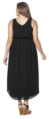 Women's Plus Size Sleeveless Maxi Dress Black-Pure Energy