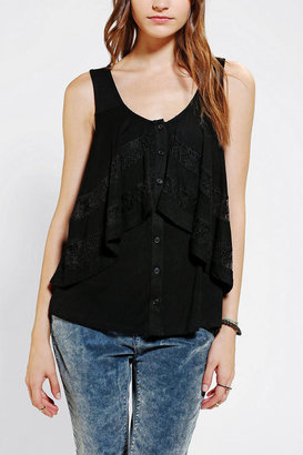 Urban Outfitters Pins And Needles Double Layer Lace Tank Top