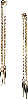 Topshop Back and Front Chain Spike Earrings