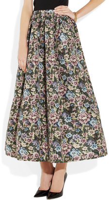 RED Valentino Floral-print faille maxi skirt