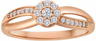 JCPenney MODERN BRIDE 1/5 CT. T.W. Diamond 10K Rose Gold Bridal Ring