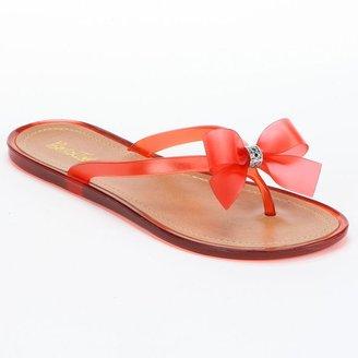 Bootsi tootsi ring bow jelly sandals - women