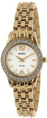 Seiko Women's SUP128 Stainless Steel Analog with White Dial Watch $145 thestylecure.com
