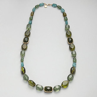 Jones New York Green Beaded Necklace