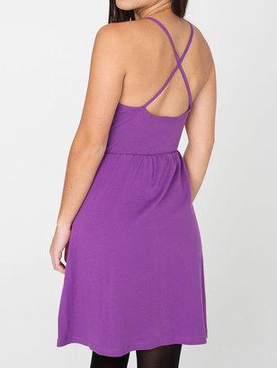 American Apparel Organic Baby Rib Cross-Back Summer Dress