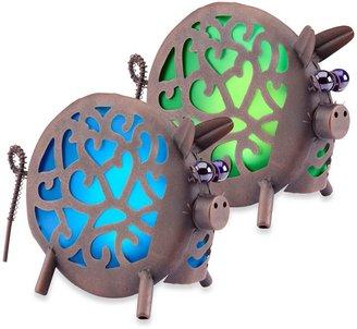 Bed Bath & Beyond Garden Meadow Solar Pig Lantern