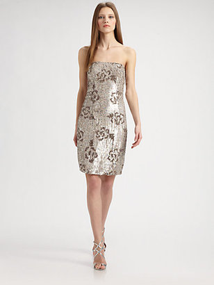 ABS by Allen Schwartz Sequined Floral Dress