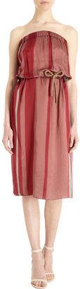 Lanvin Strapless Striped Dress