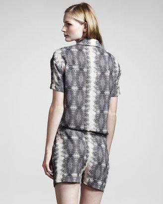 Derek Lam 10 Crosby Lizard-Print Jumpsuit