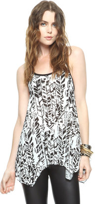 Forever 21 Abstract Trapeze Tank