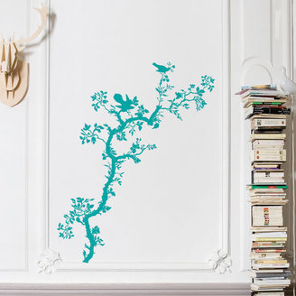 Domestic Bird Branch Decal Teal