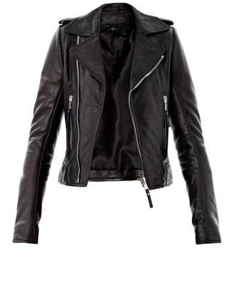 Balenciaga Classic leather zip biker jacket