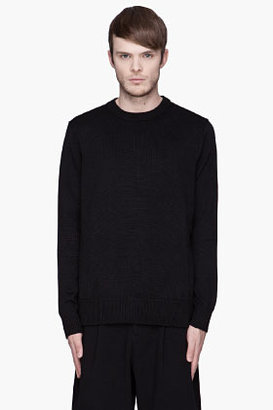 Givenchy Black side zip drop tail sweater