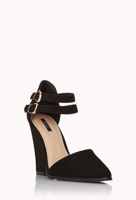 Forever 21 Modernist Buckled Heels