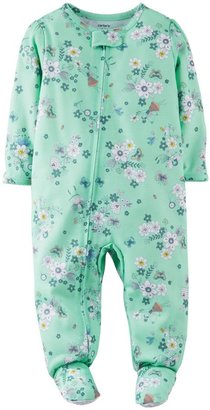 Carter's Jersey Print Footie (Toddler/Kid) - Floral-5T