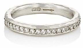 Malcolm Betts Women's White Diamond & Hammered Platinum Eternity Ring