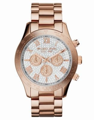 Michael Kors Ladies' Layton Glitz Mid-Size Chronograph Watch