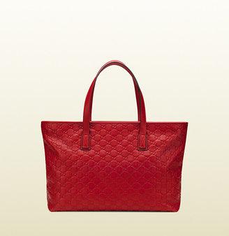 Gucci Red Guccissima Leather Tote