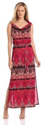 Evan Picone Women's Indonesian Ikat Maxi Dress