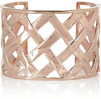 Kenneth Jay Lane Rose gold-plated lattice cuff
