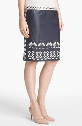 Tory Burch 'Brianna' Leather Skirt