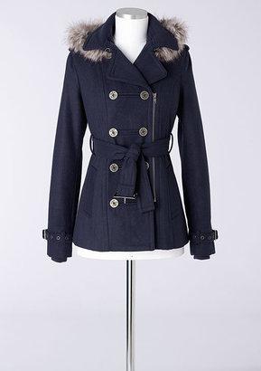 Delia's Belted Wool Zip Coat