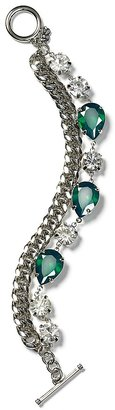ABS by Allen Schwartz Chain Stone Bracelet
