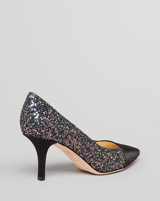 Kate Spade Pointed Toe Cap Toe Pumps - Jenny Glitter High Heel