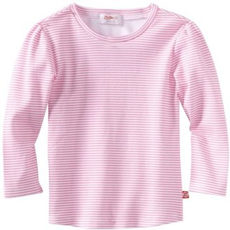 Zutano Girls 2-6x Candy Stripe Long Sleeve Fitted Tee