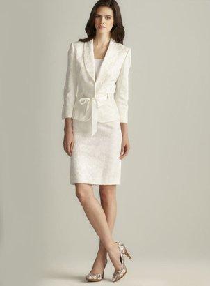 Tahari Belted Jacquard Skirt Suit