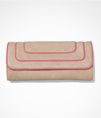 Express Neon Trimmed Fold-Over Clutch