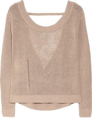 Inhabit Cutout linen-blend sweater