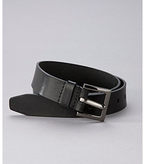 Calvin Klein Jeans Leather Belt with Harness Buckle - Black