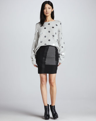 Elizabeth and James Hastings Mixed-Fabric Skirt