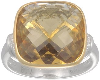Siri Usa By Tjm SIRI USA by TJM 14k Gold Over Silver & Sterling Silver Champagne Quartz & Cubic Zirconia Ring